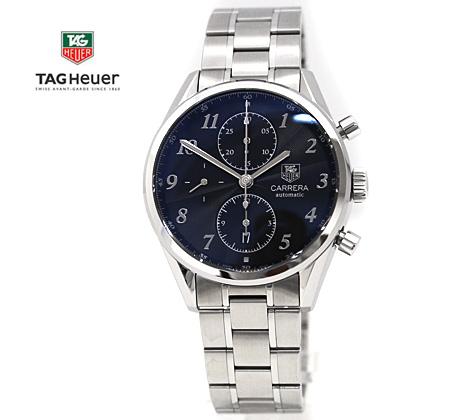 TAG Heuer  タグホイヤー メンズ 腕時計 CAS2110.BA0730 カレラ ヘリテージ クロノグラフ キャリバー16 自動巻き ブラック×シルバー