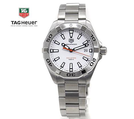 TAG Heuer タグホイヤー WBD1111.BA0928 メンズ 腕時計 アクアレーサー クォーツ 白色文字盤×シルバー【送料無料】