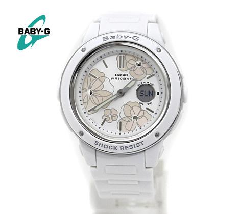 エレガントなフラワーパターンが女性心をくすぐるNewモデル CASIO カシオ Baby-G レディース 超激得SALE 腕時計 Floral 使い勝手の良い Series ホワイト Dial BGA-150FL-7AJF 送料無料