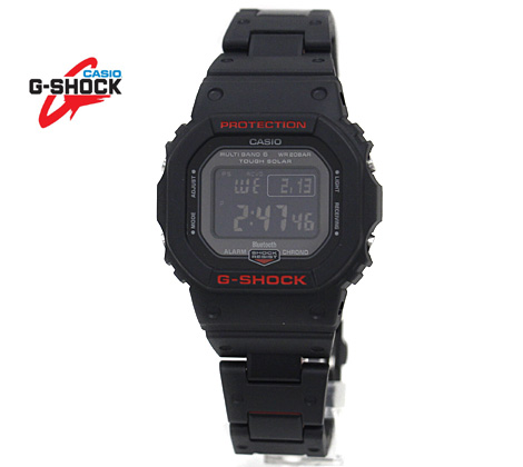 CASIO カシオ G-SHOCK 腕時計 GW-B5600HR-1JF ブラック×レッド 3つ折式バックル ソーラー電波 スマートフォンリンク【送料無料】
