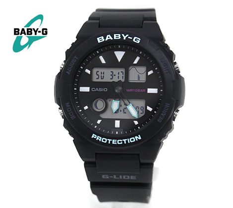CASIO カシオ Baby-G レディース 腕時計 BAX-100-1AJF G-LIDE ブラック×ミントグリーン タイドグラフ【送料無料】