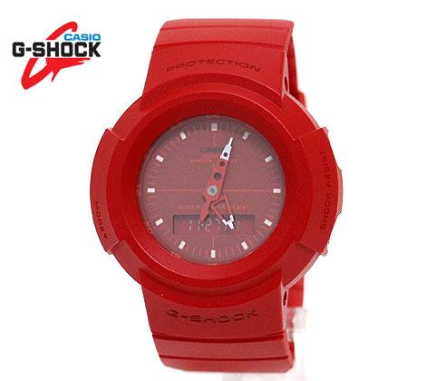 実物 2020年に復活☆過去の名機を現在に甦らせたAW-500シリーズ CASIO G-SHOCK AW-500BB-4EJF 定価 カシオ 腕時計 アナログ レッド デジアナ デジタル 送料無料