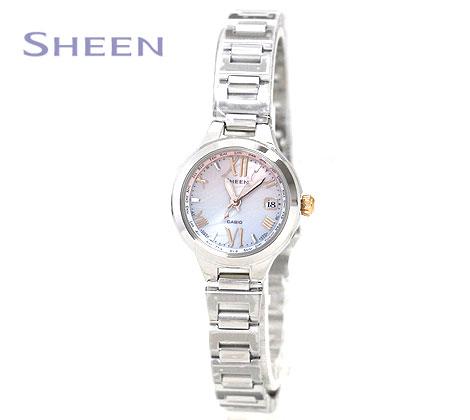 華奢な女性の腕にフィットする 爆買いセール 小型フェイスのワールドタイム機能付き電波ソーラーモデル CASIO SHEEN SHW-1700D-7AJF カシオ 腕時計 シルバー シーン レディス 送料無料 一部地域を除く ソーラー