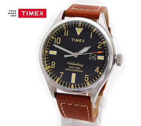 TIMEX タイメックス 腕時計 ウォーターベリー レッドウィング Waterbury Red Wing Shoe Leather 40mm ブラウンレザー×黒色文字盤 TW2P84000【送料無料】【05P03Dec16】