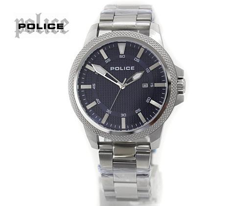 POLICE ポリス 腕時計 POLVALIANCE ネイビー×シルバー 14790JS【送料無料】