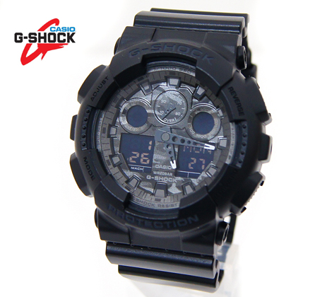 CASIO カシオ G-SHOCK 腕時計 Camouflage Dial Series デジアナ ブラック×カモフラージュ文字盤 GA-100CF-1AJF