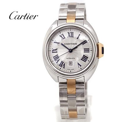 Cartier カルティエ クレ ドゥ カルティエ W2CL0004 31mm SS×ピンクゴールド レディス 自動巻 腕時計【新品】【送料無料】