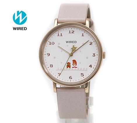 SEIKO WIRED セイコー ワイアード レディース 腕時計 スーパーマリオブラザーズ 限定モデル ピンクゴールド×ピンク AGAK707【送料無料】