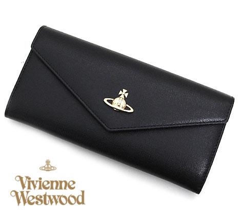 VivienneWestwood ヴィヴィアンウエストウッド 51090005 N460 SAFFIANO 小銭入れ付 長財布 BLACK ブラック【送料無料】