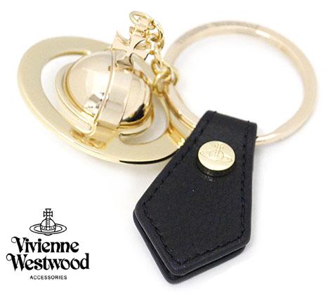 VivienneWestwood ヴィヴィアンウエストウッド 82030010 N401 GADGET 3D ORB キーリング キーホルダー オーブ ライトゴールド×ブラック 【送料無料】