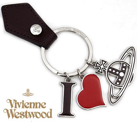 VivienneWestwood ヴィヴィアンウエストウッド 8203009 H401 I LOVE ORB キーリング/キーホルダー ハート オーブ シルバー×バーガンディー【送料無料】