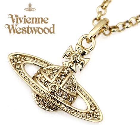 VivienneWestwood ヴィヴィアンウエストウッド 752107B/2 アクセサリー mini bas relief ミニバスレリーフ オーブ ペンダント/ネックレス ゴールド 【送料無料】