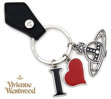 VivienneWestwood ヴィヴィアンウエストウッド 8203009 N401 I LOVE ORB キーリング/キーホルダー ハート オーブ シルバー×ブラック【送料無料】
