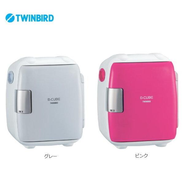 2電源式コンパクト電子保冷保温ボックス HR-DB06GY/HR-DB06P 【条件付送料無料】 ツインバード(TWINBIRD) 車載可能冷蔵庫