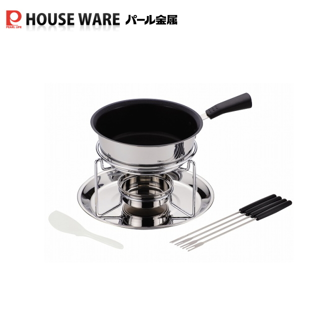 H-1647 Story 3 tier bottomed fondue pot set forks (inner nonstick) mother's day gifts and chocolate fondue party!