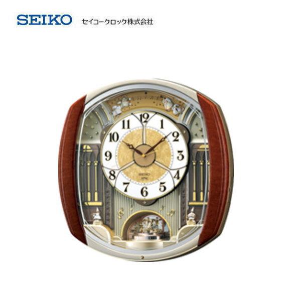 セイコー(SEIKO) 電波掛け時計 ウエーブシンフォニー RE564H 【条件付送料無料】 おしゃれな壁掛け電波時計/電波掛時計/電波時計/贈答品・贈り物/プレゼント・ギフト/お祝い返し/お返し/新築祝い/新築内祝い/かわいいメロディー/からくり時計・振り子時計