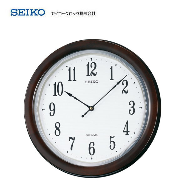 セイコー(SEIKO) 薄型タイプ電波掛け時計 ソーラープラス SF504B 【条件付送料無料】 おしゃれな壁掛け電波時計/電波掛時計/贈答品・贈り物/プレゼント・ギフト/お祝い返し/お返し/新築祝い/光発電・太陽光・ソーラー電波時計