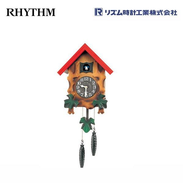 カッコーメルビルR 4MJ775RH06 【条件付送料無料】 掛け時計/おしゃれな壁掛け時計/掛時計/からくり時計/振り子時計/カッコー時計/はと時計/カッコークロック/アンティーク・レトロ時計/木製木枠時計/リズム時計工業(RHYTHM・シチズン系列)※電波時計ではありません。