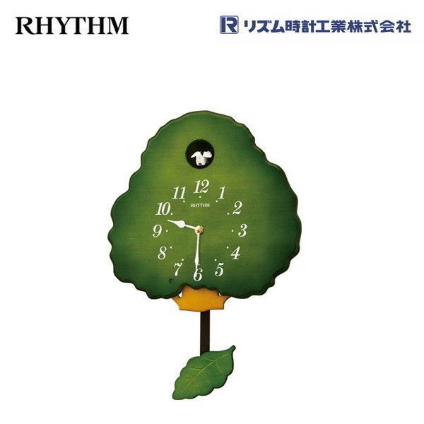 グレイスカッコー413R 4MJ413RH05  【条件付送料無料】 掛け時計/おしゃれな壁掛け時計/掛時計/からくり時計/振り子時計/カッコー時計/はと時計/カッコークロック/アンティーク・レトロ時計/木製木枠時計/リズム時計工業(RHYTHM)※電波時計ではありません。