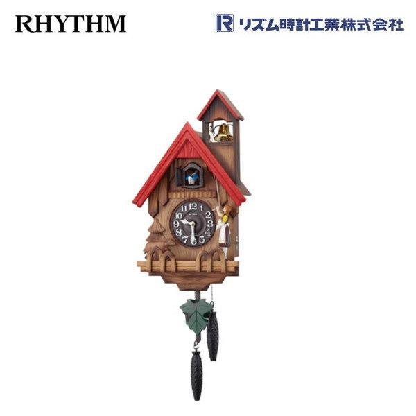 カッコーチロリアンR 4MJ732RH06 【条件付送料無料】 掛け時計/おしゃれな壁掛け時計/掛時計/からくり時計/カッコー時計/はと時計/カッコークロック/アンティーク・レトロ時計/木製木枠時計/リズム時計工業(RHYTHM・シチズン系列)※電波時計ではありません。