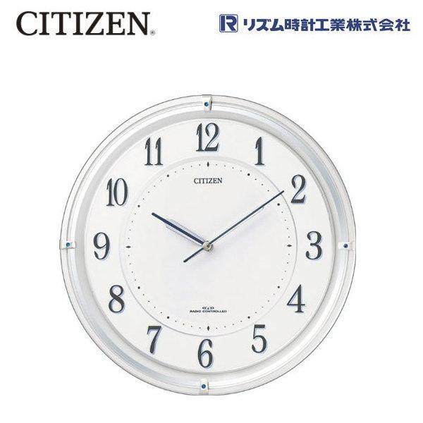 シチズン(CITIZEN) サイレントソーラーM817 4MY817-003 【条件付送料無料】 ソーラー電源電波掛時計 明るさテスト機能 快速スタート機能/リズム時計工業
