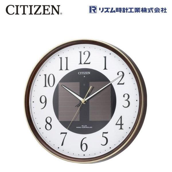 シチズン(CITIZEN) エコライフM807 4MY807-023 【条件付送料無料】 ソーラー電源電波時計 明るさテスト機能付/リズム時計工業