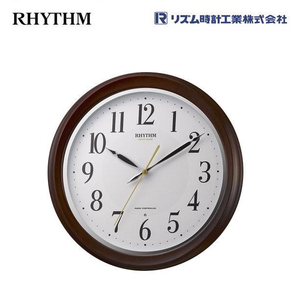 リズム フィットウェーブアヤ 8MY512SR06 【条件付送料無料】リズム時計工業(RHYTHM) 電波掛時計/電波掛け時計