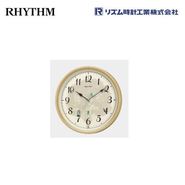 8MN409SR06 日本野鳥の会 報時掛時計409 四季の野鳥 リズム 電波掛け時計 電波掛時計 【条件付送料無料】リズム時計工業(RHYTHM)