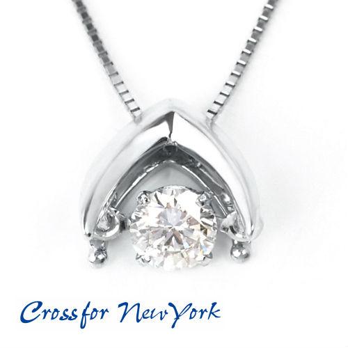 【送料無料】Crossfor new York NYP-533 シルバーキュービックジルコニアネックレス