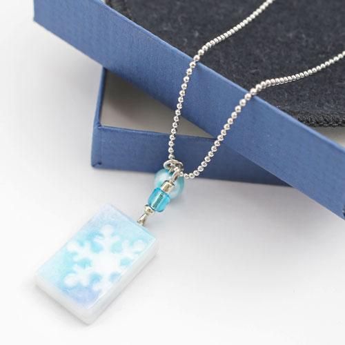 ◇北海道小樽◇手制、玻璃吊坠(蓝色细雪)使用,货到付款、日期指定不可能
