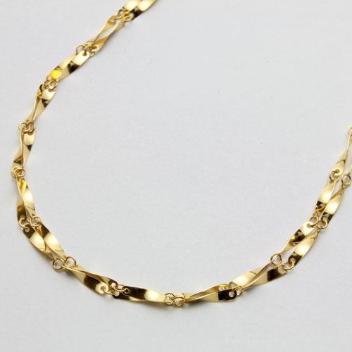 ◇特別価格◇【送料無料】 純金 ネックレス (K24)きらきら感が魅力のひねり2連 【smtb-k】