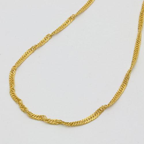◆このキラキラ感◆男女兼用デザイン質の高さが際立つピュアーゴールド黄金(24金)たっぷり18g!  NEW!! 迫力の最大4mm幅!!純金 ネックレス(K24)ゆったり45cmサイズ・スクリュー チェーン【smtb-k】