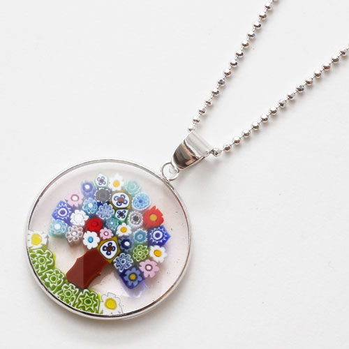 Jewelry walk shinsaibashi rakuten global market bill pulled bill pulled non date made in italy venetian galas and venetian glass millefiori pendantnecklace 26 mm mozeypictures Choice Image