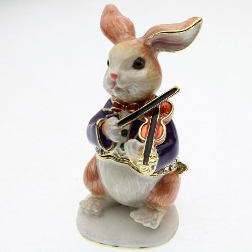 ◇ 小提琴兔子珠宝盒首饰盒 (兔子)