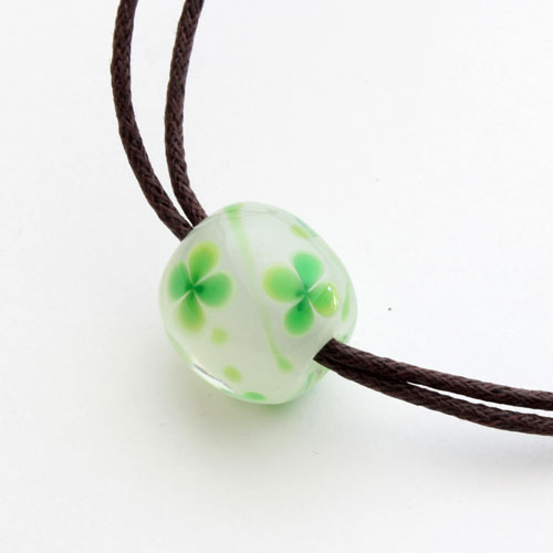 ◇ 北海道小樽手工琉璃吊坠 (轻柔的风,绿色)