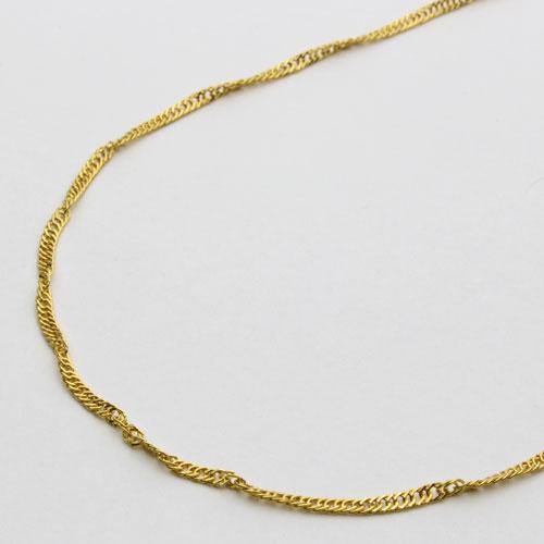 【送料無料・消費税込】純金ネックレス(K24)ゆったり45cmサイズ・スクリュー【smtb-k】