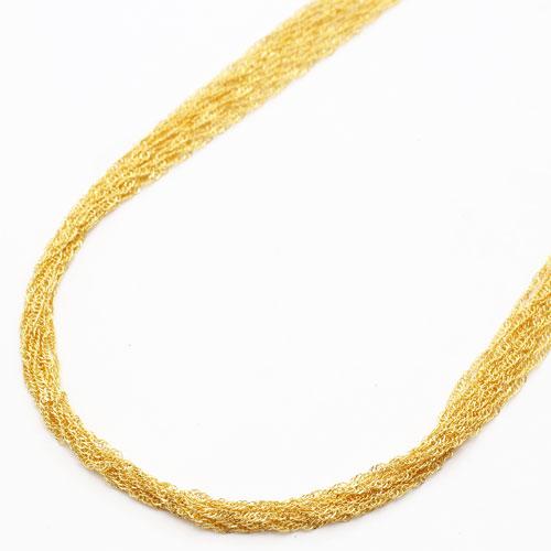 ◇特別価格◇【送料無料】 純金 ネックレス (K24) 10連 スクリュー 60cm15.3g (K24刻印入)【smtb-k】