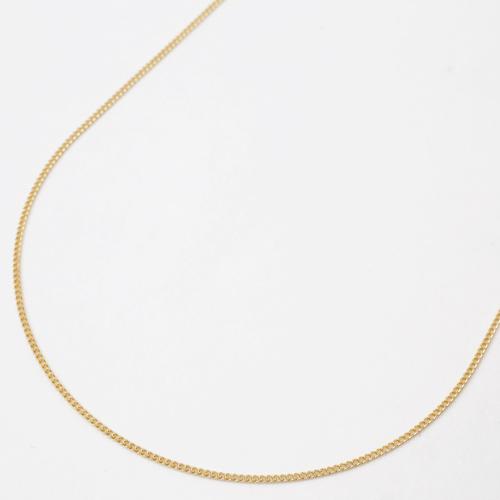 ◇18金ネックレス(K18)40cm 1.2g(なめらかキヘイチェーン)そのままでも、ペンダント用にも!【smtb-k】