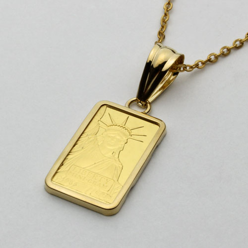 -50 %OFF! That Switzerland made by pure gold ingot gold pendant liberty ◇ ◇