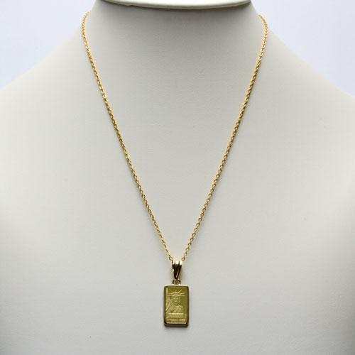 ◇铸块金币垂饰制造纯金自由