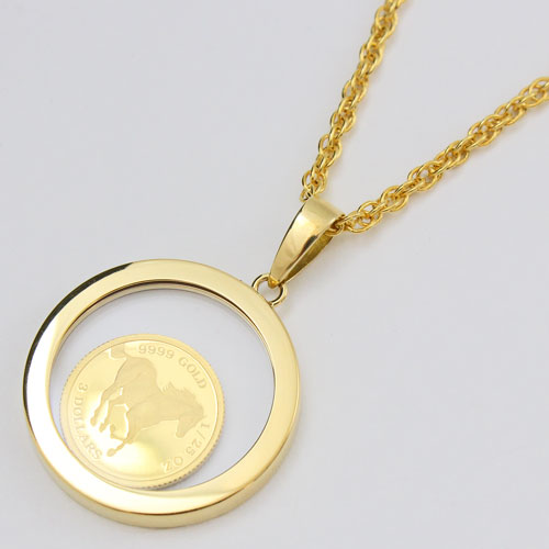 -50 %OFF! -Tuvalu-made gold coin pendant ( hose ).