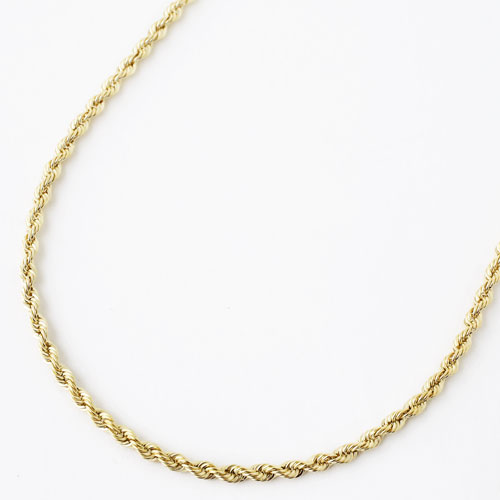 Made In Italy Gold Necklace K18 Pipe Rope Chain