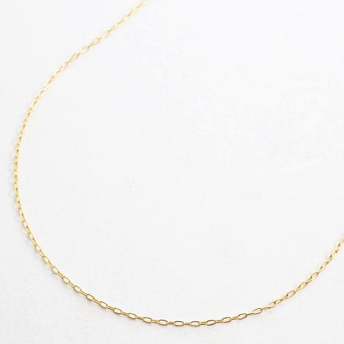 ◆送料無料◆ 18金 ・ フリーサイズ アズキ チェーン ニュー小豆 45cm 0.9g スライドチェーン 【smtb-k】
