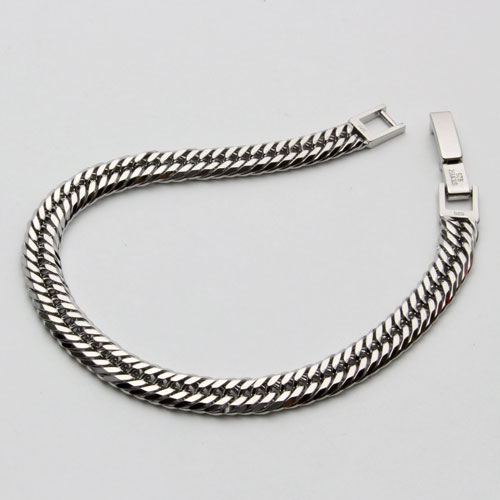 ▼-incl. ▼ triple 12 surface cut purely silver Kihei bracelet Made in Japan