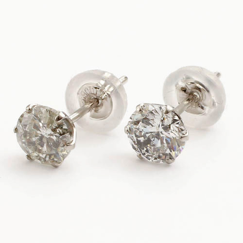 All Materials Are Exclusive Platinum 900 Luxury Earrings With Cute Jewelry Box Gifts Also Great