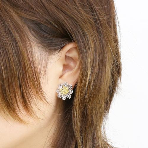 ☆☆ DANILO MINGALDI意大利·维琴察手制firigurana·环形别针耳环(花)
