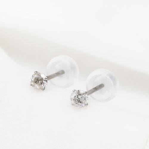 Special Price Consumption Tax Platinum Diamond Earrings Entrapment