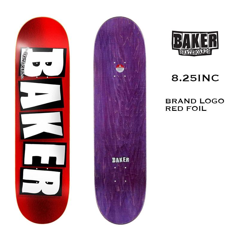 スピード対応 全国送料無料 ベーカー 正規品 sk8 スケボー 3010813 BAKER SKATEBOARD ベイカースケートボード 時間指定不可 BRAND スケートデッキ レッドホイル LOGO FOIL スケートボード RED 21SS 8.25IN Deck