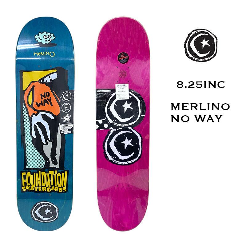 ラッピング無料 正規取扱店 スケボーデッキ sk8 スケートデッキ スケートボード ファンデーション 激安セール スケボー brdfsnm44 デッキ 8.25inc ブルー 21SS WAY NO Skateboard MERLINO Foundation DECK