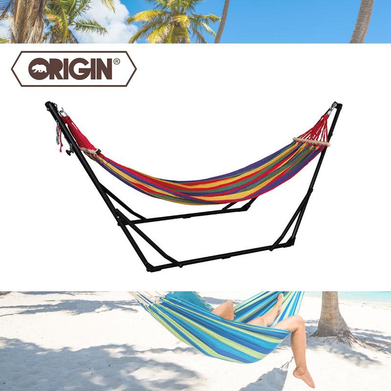 ORIGIN シエスタ ハンモック origin65アウトドア キャンプ 自立式 折りたたみ ポータブル ハンギング ロープ 0400001446386